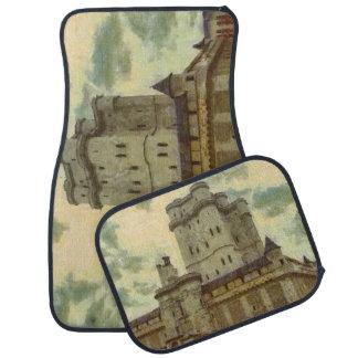 Vincennes castle, Paris painting Car Mat