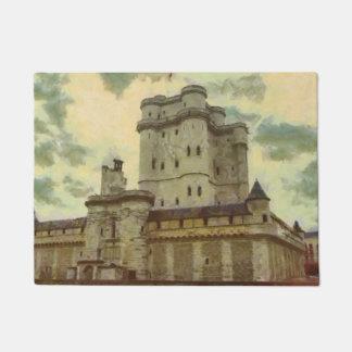 Vincennes castle, Paris painting Doormat
