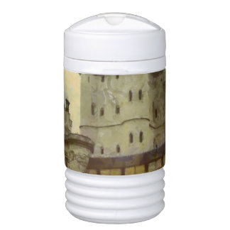 Vincennes castle, Paris painting Drinks Cooler