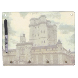 Vincennes castle, Paris painting Dry Erase Board With Keychain Holder