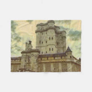 Vincennes castle, Paris painting Fleece Blanket