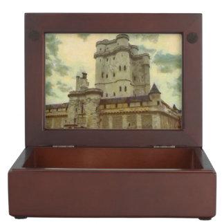 Vincennes castle, Paris painting Keepsake Box