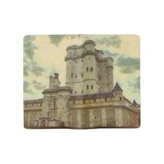 Vincennes castle, Paris painting Large Moleskine Notebook