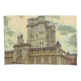 Vincennes castle, Paris painting Pillowcase