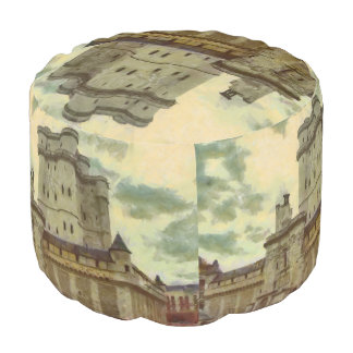 Vincennes castle, Paris painting Pouf