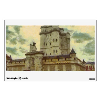 Vincennes castle, Paris painting Wall Sticker