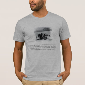 "vincent, ""And I to my motorcycle Parked like th... T-Shirt"