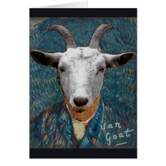 Vincent Van Goat/ Gogh Painter Self Portrait Card