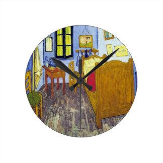 Vincent van Gogh 1888 The Bedroom At Arles Round Clock