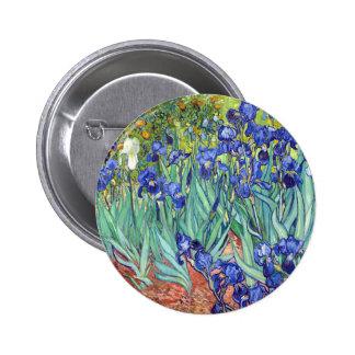 Vincent van Gogh 1889 Irises 2 Inch Round Button
