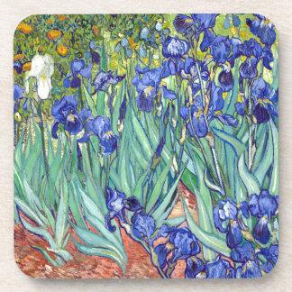 Vincent van Gogh 1889 Irises Drink Coaster