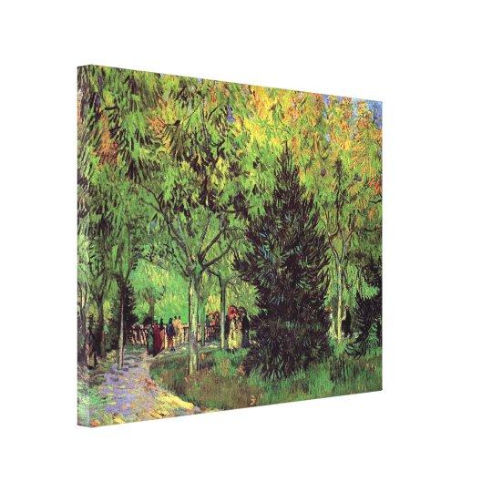 Vincent Van Gogh - A Lane In The Public Garden Canvas Print