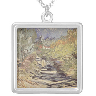 Vincent van Gogh | A Road in St. Remy Silver Plated Necklace