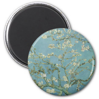 Vincent Van Gogh Almond Blossom Floral Painting 2 Inch Round Magnet