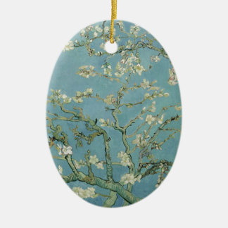 Vincent Van Gogh Almond Blossom Floral Painting Ceramic Ornament