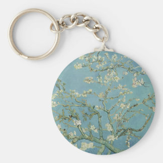 Vincent Van Gogh Almond Blossom Floral Painting Keychain