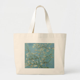 Vincent Van Gogh Almond Blossom Floral Painting Large Tote Bag