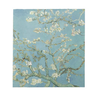 Vincent Van Gogh Almond Blossom Floral Painting Notepad
