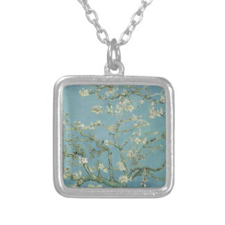 Vincent Van Gogh Almond Blossom Floral Painting Silver Plated Necklace
