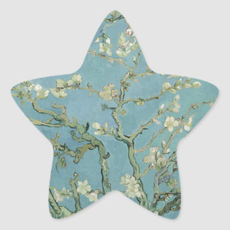 Vincent Van Gogh Almond Blossom Floral Painting Star Sticker