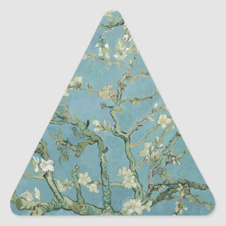 Vincent Van Gogh Almond Blossom Floral Painting Triangle Sticker