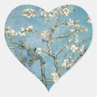 Vincent van Gogh | Almond branches in bloom, 1890 Heart Sticker