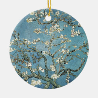 Vincent van Gogh | Almond branches in bloom, 1890 Round Ceramic Ornament