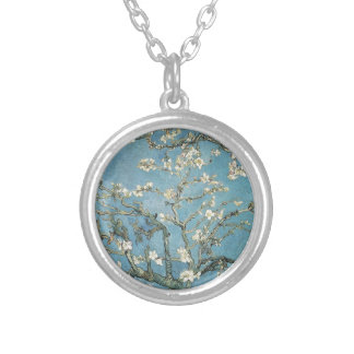 Vincent van Gogh | Almond branches in bloom, 1890 Round Pendant Necklace