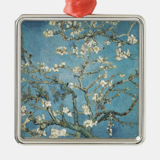 Vincent van Gogh | Almond branches in bloom, 1890 Silver-Colored Square Ornament