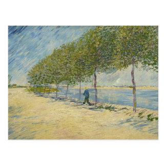 Vincent van Gogh - Along the Seine Postcard