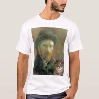 Vincent Van Gogh and his Tabby Cat T-Shirt