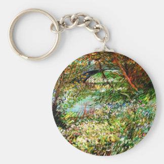Vincent Van Gogh - Banks of the Seine in Spring Keychain