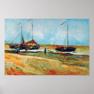 Vincent Van Gogh - Beach at Scheveningen Fine Art Poster