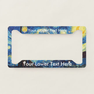 Vincent van Gogh Beautiful The Starry Night License Plate Frame