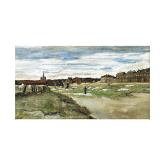 Vincent van Gogh Bleaching Ground at Scheveningen Canvas Print