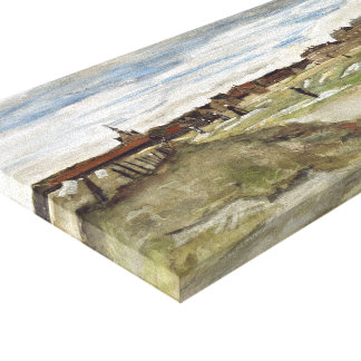 Vincent Van Gogh Bleaching Ground At Scheveningen Canvas Prints