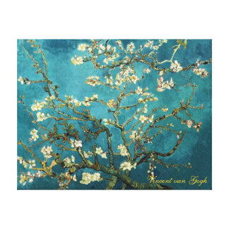 Vincent van Gogh Blossoming Almond Tree Gallery Wrapped Canvas