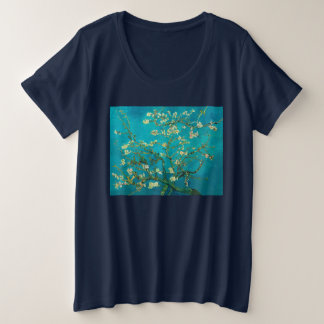 Vincent Van Gogh Blossoming Almond Tree Floral Art Plus Size T-Shirt