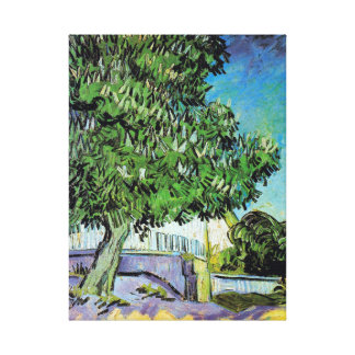 Vincent van Gogh Blossoming Chestnut Trees Canvas Print