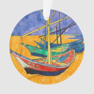 Vincent Van Gogh Boats Impressionist