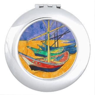 Vincent Van Gogh Boats Impressionist Vanity Mirror