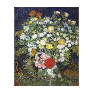 Vincent van Gogh Bouquet of Flowers in a Vase Canvas Print