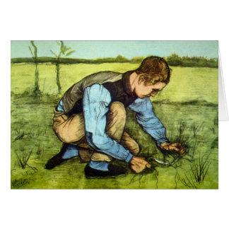 Vincent Van Gogh - Boy Cutting Grass with Sickle Card