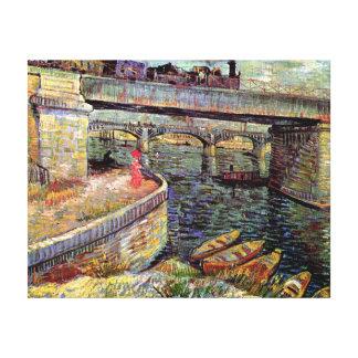 Vincent Van Gogh - Bridges Across The Seine Canvas Print