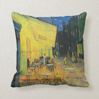 Vincent van Gogh Caf Terrace at Night Throw Pillow