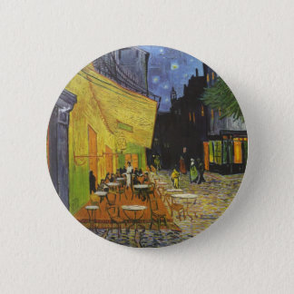 Vincent Van Gogh - Cafe Terrace at Night 2 Inch Round Button