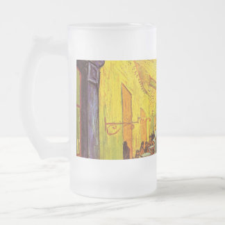 Vincent Van Gogh Cafe Terrace At Night Fine Art Frosted Glass Mug