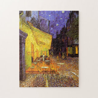 Vincent Van Gogh Cafe Terrace At Night Fine Art Jigsaw Puzzle