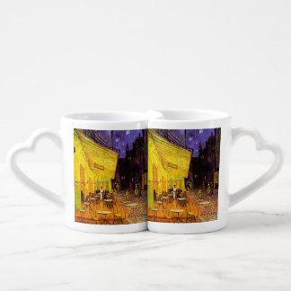 Vincent Van Gogh Cafe Terrace At Night Fine Art Lovers Mug Set