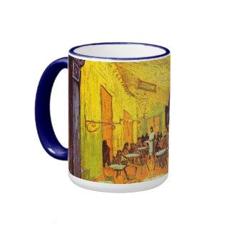 Vincent Van Gogh Cafe Terrace At Night Fine Art Ringer Mug